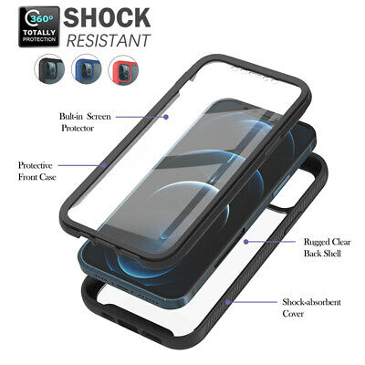 AU14.99 • Buy For IPhone 12 11 Pro Max 8 SE 2020 Back Case Clear  Heavy Duty 3 In 1 Full Cover