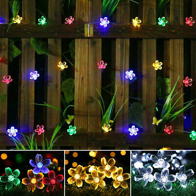£9.59 • Buy Solar Powered Fairy String LED Lights Waterproof Star Decor Party Garden Outdoor