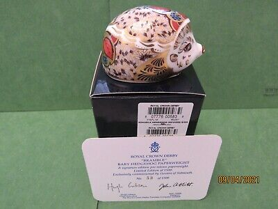 £115 • Buy Royal Crown Derby  Hawthorn  Mother And  Bramble  Baby Hedgehogs