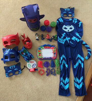 PJ Masks Bundle - Figurines, Costume, Masks, Play Doh Set, Vehicles, Etchasketch • 20£