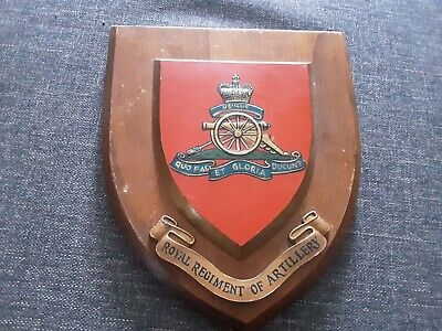 ROYAL ARTILLERY 24th MISSILE REGIMENT  WALL PLAQUE / SHIELD ( HAND PAINTED ) • 4.99£