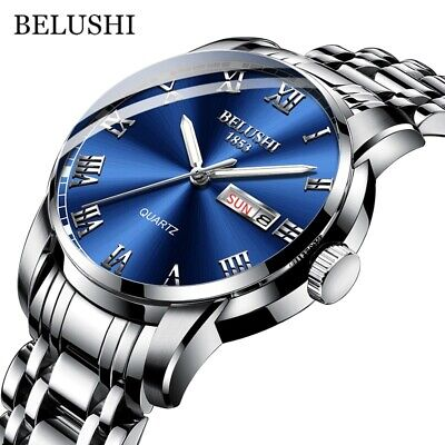 $ CDN22.80 • Buy Men's Luxury Watches Date Stainless Steel Waterproof Business Quartz Wrist Watch