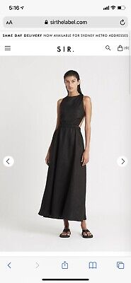 AU250 • Buy SIR The Label Alena Maxi Dress Black Size 0 **NEW WITH TAGS**