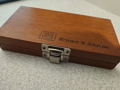 $19.95 • Buy Brown & Sharpe Wooden Box/case For 0-1  Swiss Outside Micrometers