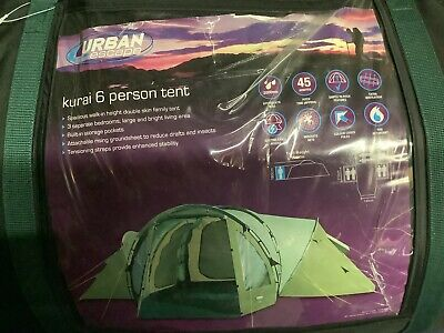 Urban Escape Kurai 6 Person Tent With 3 Bedrooms. Collection From Southampton. • 50£