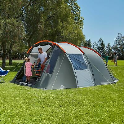 NEW Ozark Orange And Grey Outdoor Waterproof Tunnel Tent Shelter 6 Person Family • 132.99£