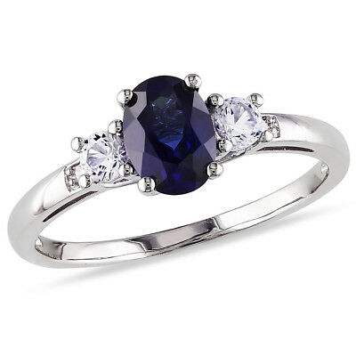 AU2574.92 • Buy 2.20 Ct Real Diamond Sapphire Gemstone Ring Solid 950 Platinum Rings Size 6 7 8