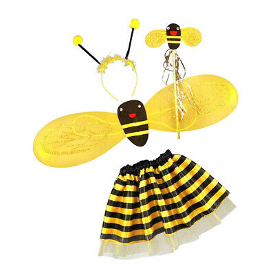 £6.15 • Buy Girls Bumble Bee Costume Insect Fairy Party Fancy Dress Kids Outfit Set New