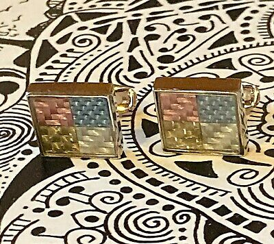 £35.39 • Buy Cufflinks - PAUL SMITH Polished Silver Square Embossed Cufflinks - England