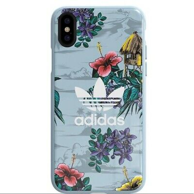 AU30.17 • Buy Adidas Originals Floral Snap Case IPhone X Tropical Island Scene Graphic Trefoil