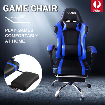 AU102.59 • Buy Gaming Chair Office Chair Computer Executive Chairs Seating Footrest Racer
