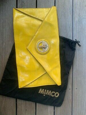 AU15 • Buy Mimco Large Yellow Clutch