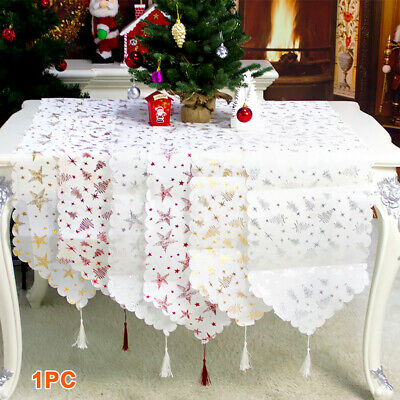 AU12.79 • Buy Dining Room Christmas Table Runner Holiday With Tassel Family Party Home Decor