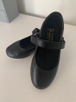 Girls Black Easy Fastening Tap Dance Shoes Size 9 • 6£