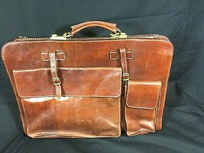 'The Bridge' Large Brown Leather Briefcase • 80£