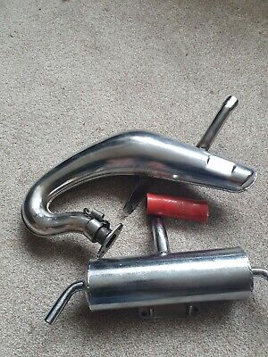 30 Degree North Bull Exhaust Pipe Silenced For King Motor X2 & Losi 5ive-T • 30£