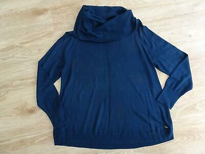TOMMY HILFIGER Ladies Navy Knitted Slouchy Polo Neck Jumper Sweater XXL UK 18 • 0.99£