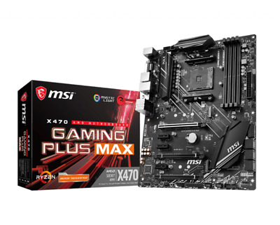 AU134.99 • Buy MSI GAMING PLUS MAX AMD X470 AM4 Motherboard Black