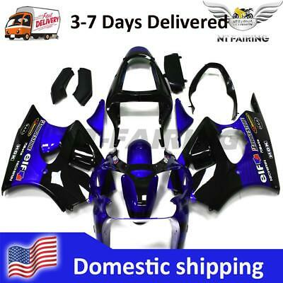 $519.99 • Buy WO Injection Fairing Blue Black Fit For Kawasaki ZX-6R 2000-02 ZZR600 05-08 V038