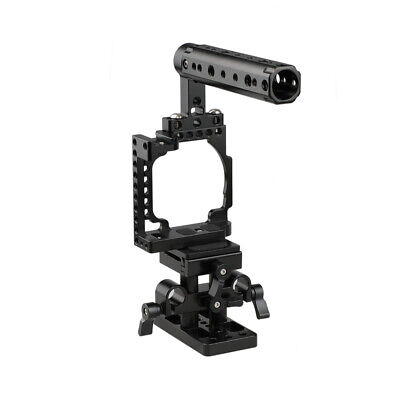 $ CDN105.30 • Buy CAMVATE Cage With Arca QR Baseplate Kit Top Handle For Sony A6600 A6500 A6400