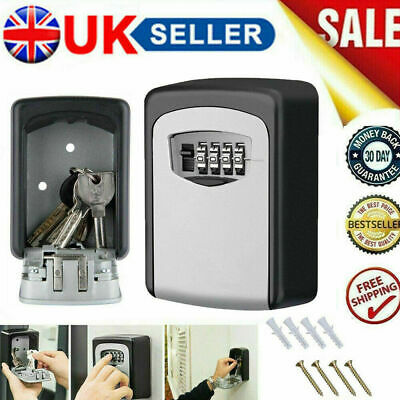 Outdoor High Security Wall Mounted Key Safe Box Code Lock Storage 4 Digit UK • 9.88£