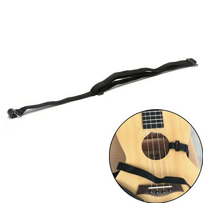 AU8.65 • Buy 1 Pcs Adjustable Ukulele Strap Guitar Instrument Hook Black Guitar AccessorH YK