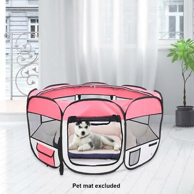 £16.49 • Buy 36  Pet Playpen Dog Cat Rabbit Pig Puppy Pink Play Crate Cage Tent Portable