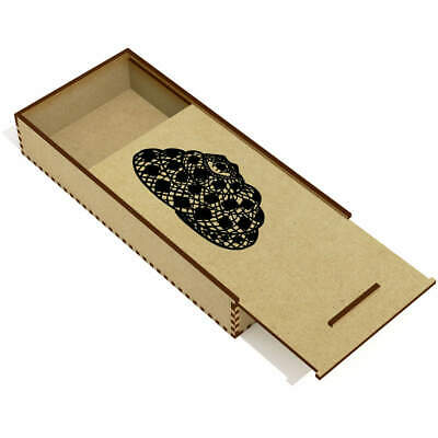 £6.99 • Buy 'Coiled Snake' Wooden Pencil Case / Slide Top Box (PC00003357)