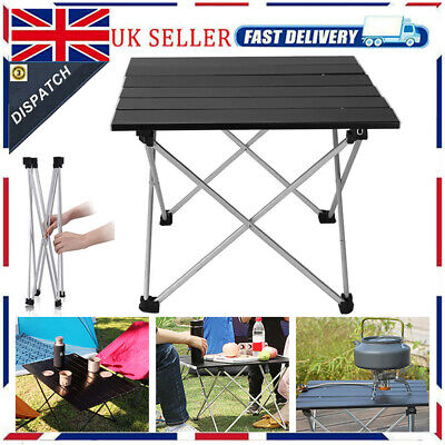 £18.99 • Buy Portable Aluminum Roll Up Table Folding Camping Garden Outdoor Picnic Party NEW