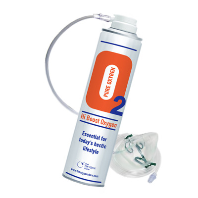 £16.99 • Buy Oxygen In A Can 10 Litre With Mask Hi Boost 10L Canned O2 Recreational Pro Oxy