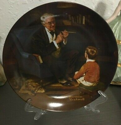 $ CDN15.05 • Buy Norman Rockwell Plate THE TYCOON 1982 First Edition Knowles Heritage No5839AI