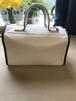Anya Hindmarch White Zipped Top Handle Tote Doctor's Bag GENUINE • 50£
