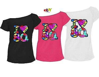 Ladies I Love The 80s Printed T-shirt Stars Hen Party Top Retro Fancy Tee Top • 7.95£
