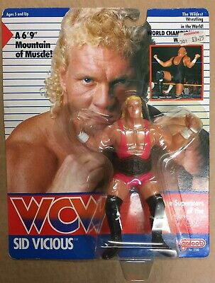 $ CDN2159.03 • Buy WCW GALOOB MOC SID VICIOUS PINK SINGLET UK EXCLUSIVE Hasbro Mattel Ljn Wwe