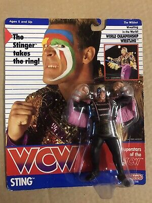 $ CDN2589.11 • Buy WCW GALOOB MOC PRE RING ROBED STING UK EXCLUSIVE Wrestling Figure Wwf Hasbro
