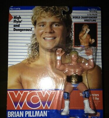 $ CDN2159.03 • Buy WCW GALOOB MOC BRIAN PILLMAN BLUE PANTS UK EXCLUSIVE Vintage Wrestling Figure