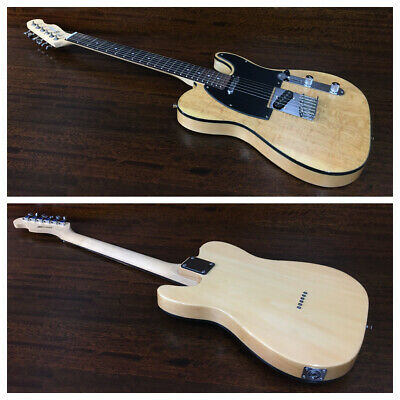 AU220 • Buy Haze Solid Body Electric Guitar,SS Pickup,Natural Quilted Top.HSTL 19100BNA Thru