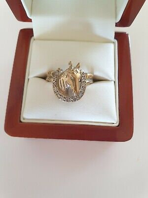 AU400 • Buy Gold And Diamond Horse Ring