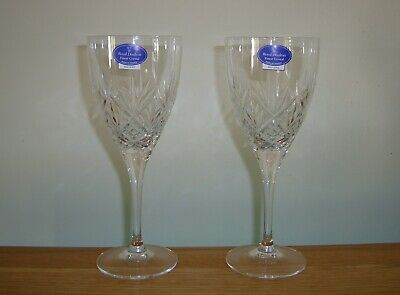 2 X ROYAL DOULTON CRYSTAL ~ HELLENE CLARET WINE GLASSES IN EXCELLENT CONDITION • 24£