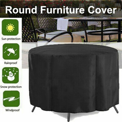 £10.99 • Buy UK Large Round Waterproof Furniture Cover Outdoor Garden Patio Table Chair Set
