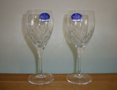 2 X ROYAL DOULTON CRYSTAL ~ JULIETTE MEDIUM WINE GLASSES IN EXCELLENT CONDITION • 24£