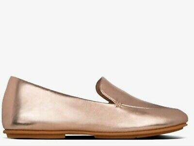 £34.95 • Buy FitFlop LENA Loafer In Metallic Rose Gold, Size 4, BNWOB