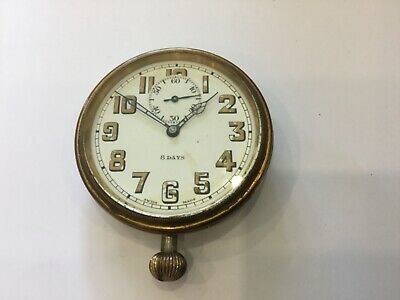 AU168.98 • Buy Antique 8 Day Travel Clock - D F & C. Swiss Made Movement