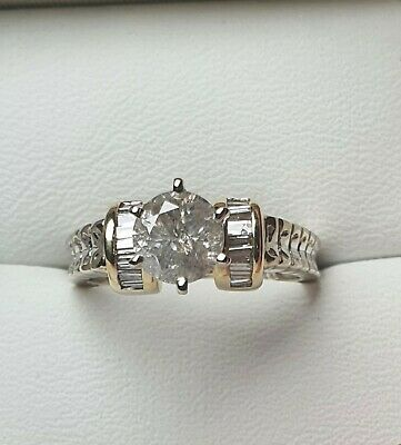AU1800 • Buy Genuine Solid 18ct 0.93ct Diamond Ring In White/Yellow Gold Val$6435