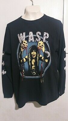 £14.16 • Buy WASP Blackie Lawless Long Sleeve T Shirt Heavy Metal Twisted Sister Lizzy Borden