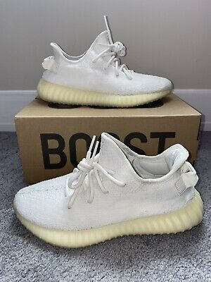 $ CDN250.64 • Buy Adidas Yeezy Boost 350 V2 Cream Triple White 100% Authentic CP9366 Size 8