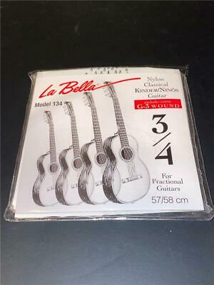 $ CDN1.24 • Buy La Bella Model 134 Nylon Classical Guitar Strings 3/4 Fractional Guitars 57/58