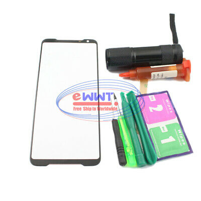AU15.84 • Buy FREE SHIP For Asus ROG Phone 2 * ZS660KL Black Screen Glass Lens+UV Glue MQGS622