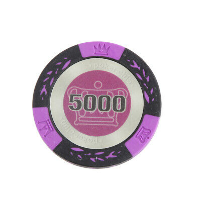 £4.66 • Buy   Casino Poker Play Fun 10Pcs 5000 Face Value Crown Design Chips Gift