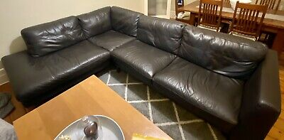AU199 • Buy Plush 3 Seater Leather Sofa With Chaise